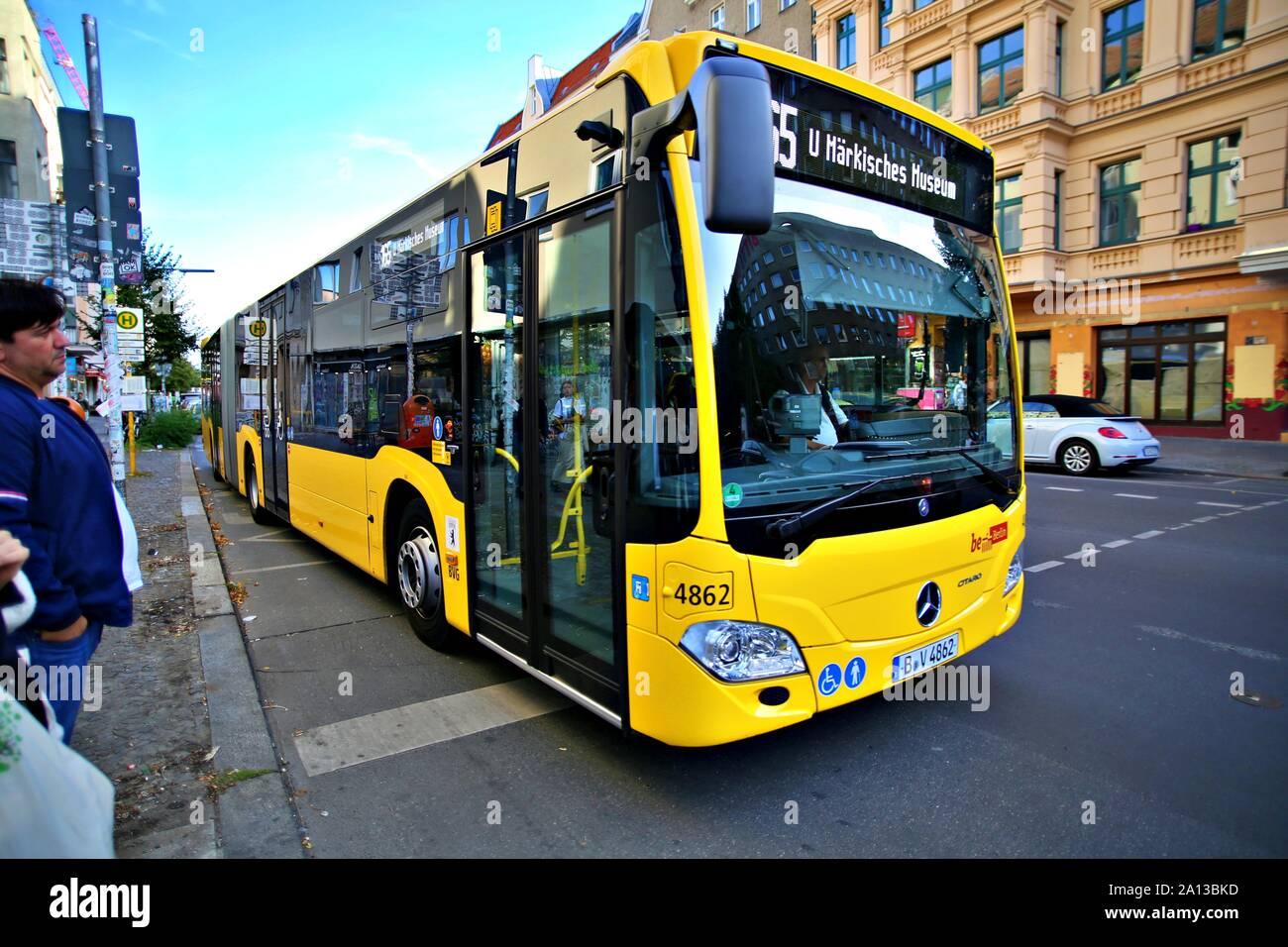 Berlin Germany Monday September 23 2019 Public Transportation City Bus In City Of Berlin Stock Photo Alamy