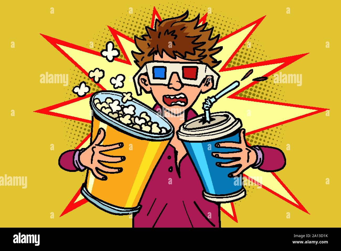 Cartoon Popcorn High Resolution Stock Photography And Images Alamy