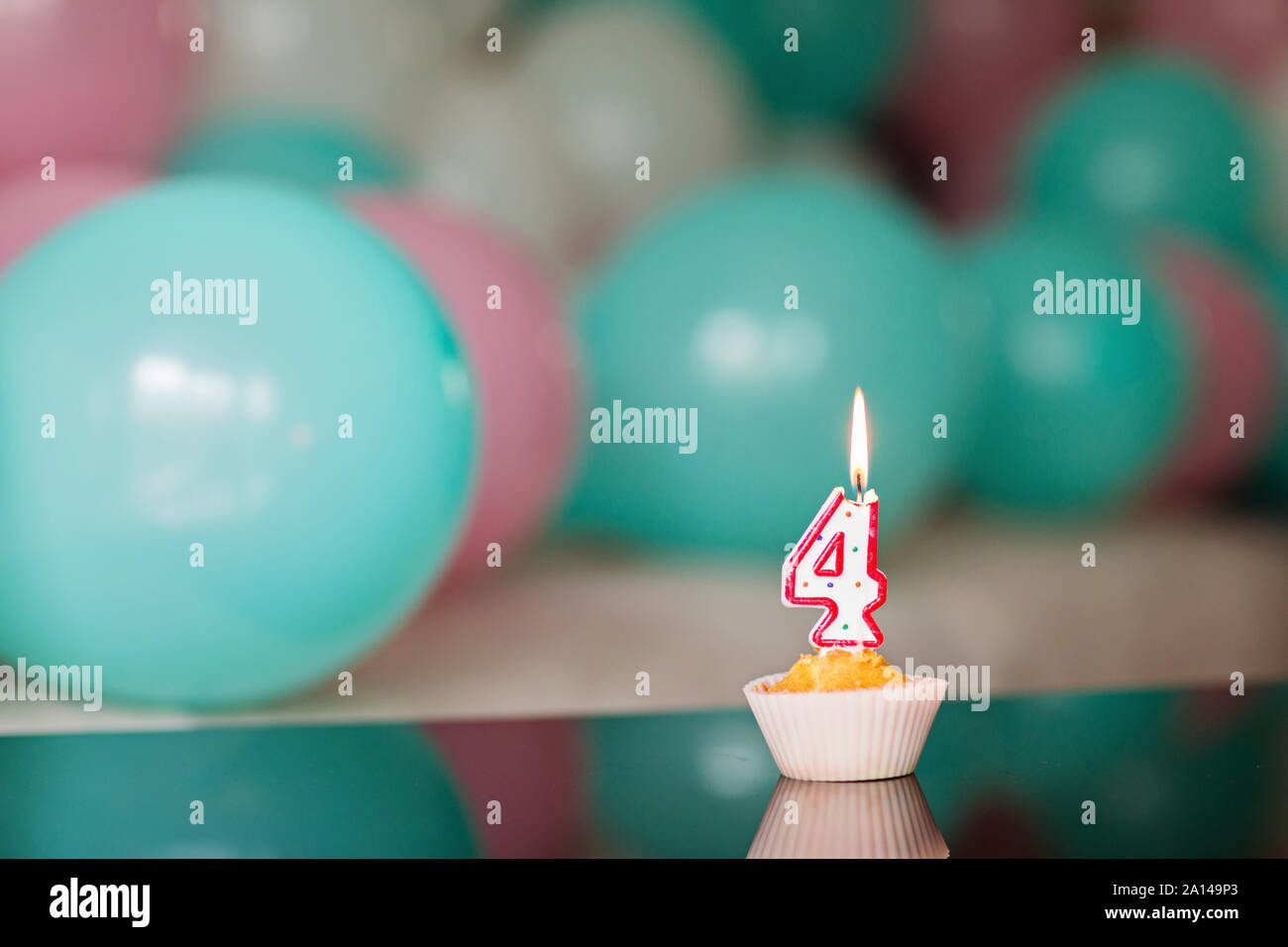 Awe Inspiring Birthday Cake And Colorful Balloons On Background Celebrate 4 Personalised Birthday Cards Veneteletsinfo