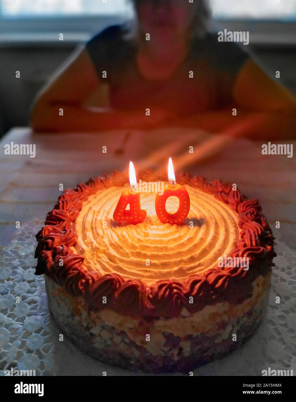 Awe Inspiring 40Th Birthday Cake Stock Photos 40Th Birthday Cake Stock Images Funny Birthday Cards Online Alyptdamsfinfo