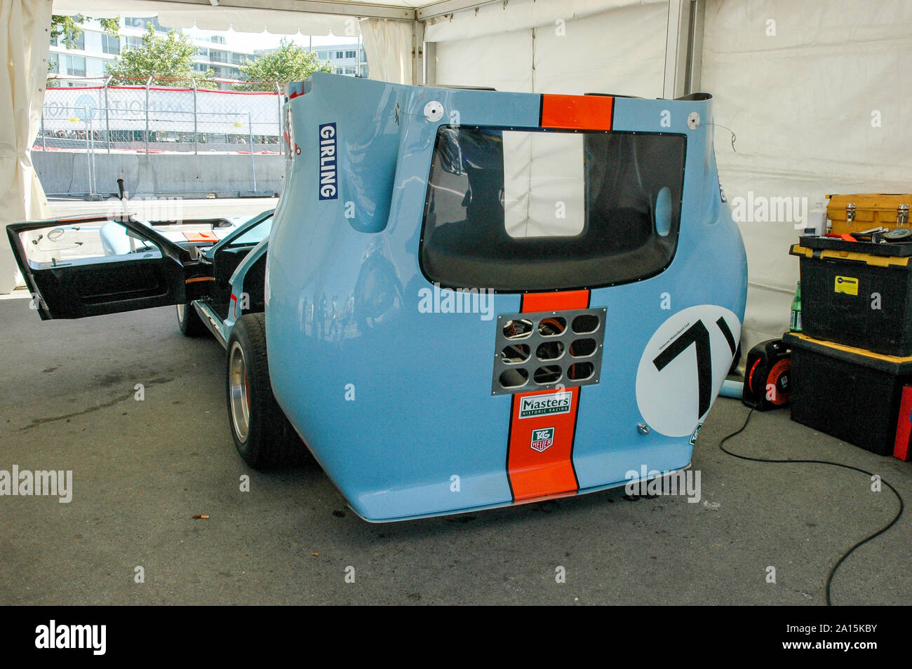 Blue and orange Ford GT 40 Stock Photo