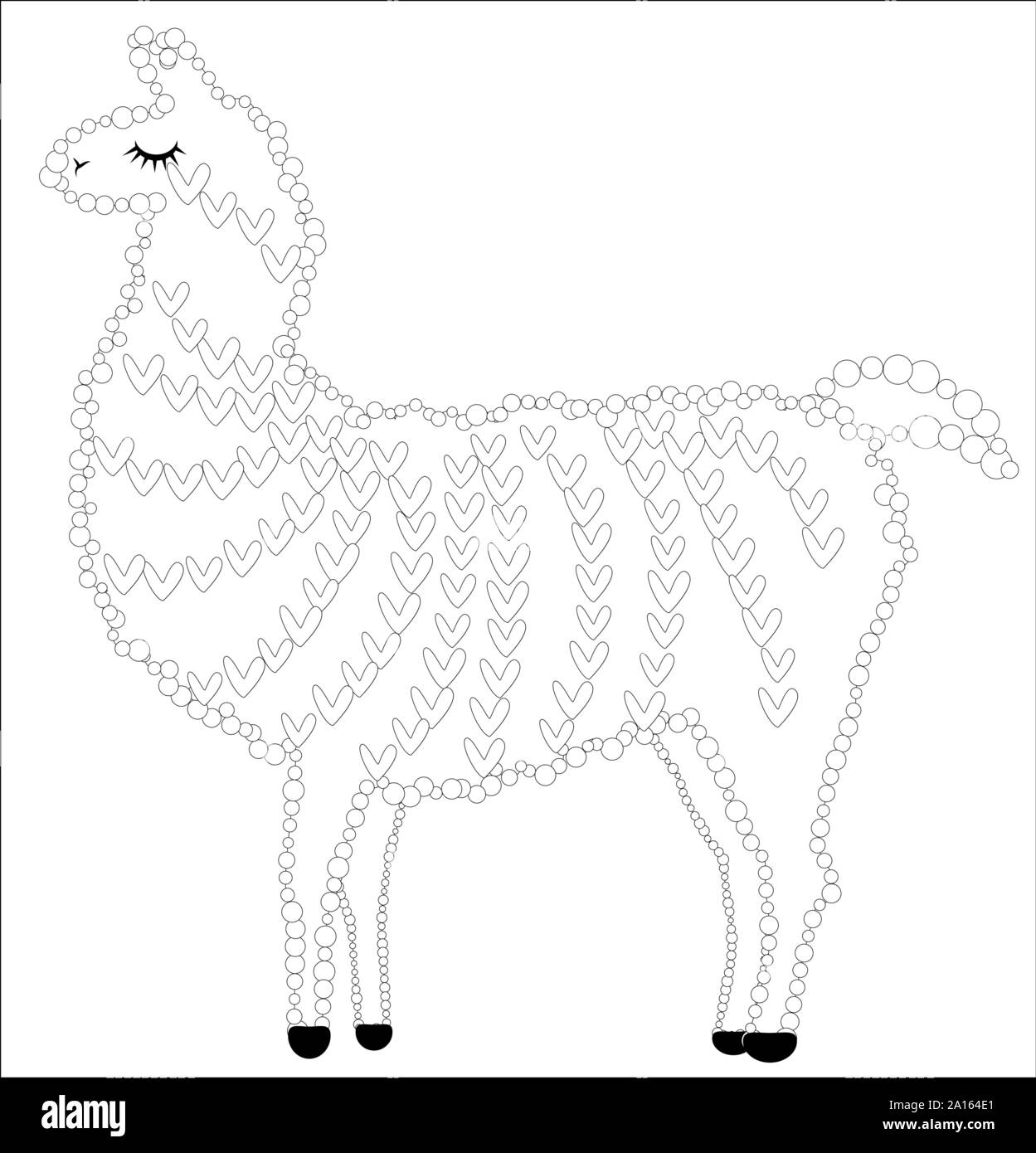 Cute Alpaca coloring page | Free Printable Coloring Pages ... | 1390x1249