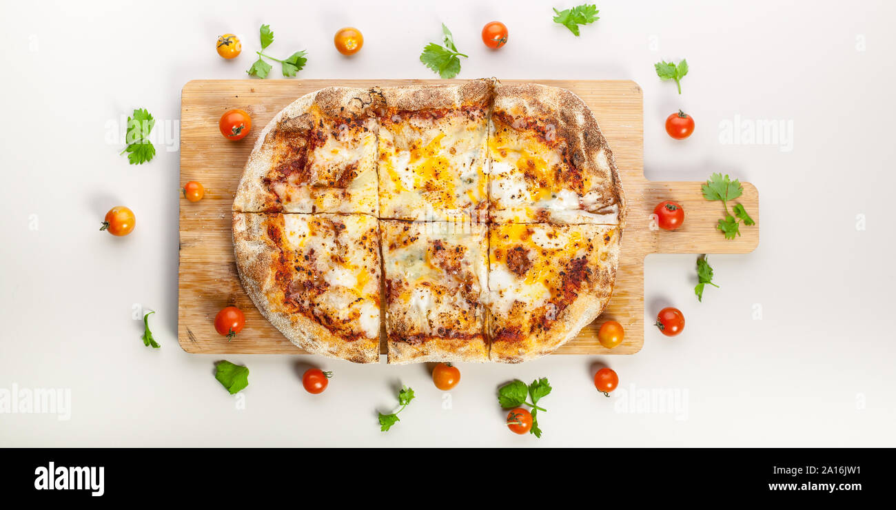 Pizza Banner Italian Pepperoni Veggie Cheese Pie Concession Stand Sign 48x120