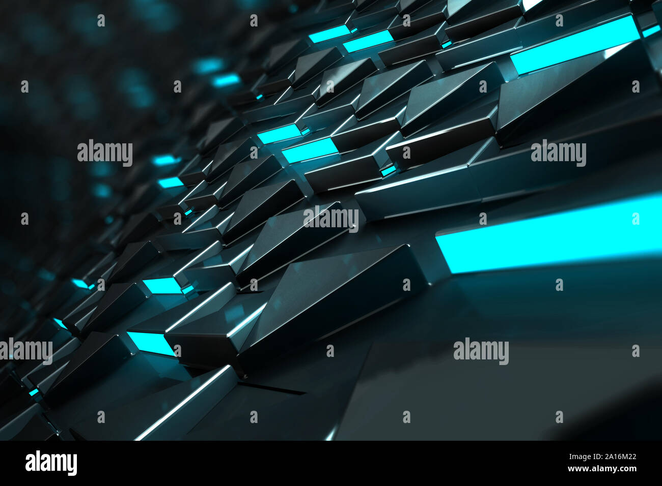 3d Illustration Rendering Abstract Concept Tech Wallpaper