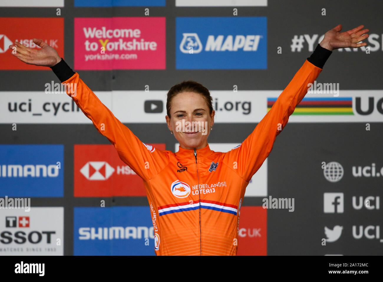 Harrogate, UK. 24th September 2019. 2019 UCI Road World Championships Womens Elite Individual Time Trial. September 24, 2019 Credit Dan-Cooke/Alamy Live News Stock Photo