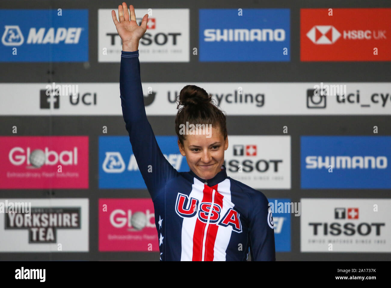 Harrogate, UK. 24th September 2019. 2019 UCI Road World Championships Womens Elite Individual Time Trial. September 24, 2019 Credit Dan-Cooke/Alamy Live News Stock Photo