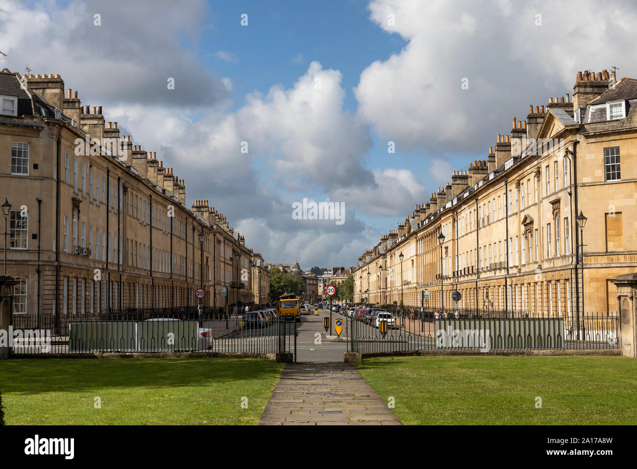 Great Pulteney Street as photographed from The Holburne Museum of Art, Bath, Somerset, UK Stock Photo