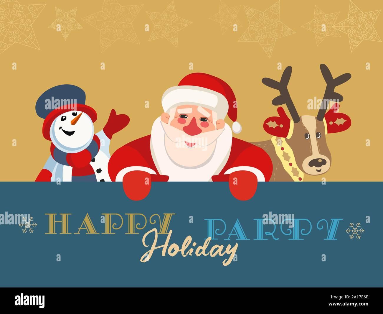 Christmas Celebration Cartoon Images.Hand Drawn Winter Season Holiday Party Flat Color Vector
