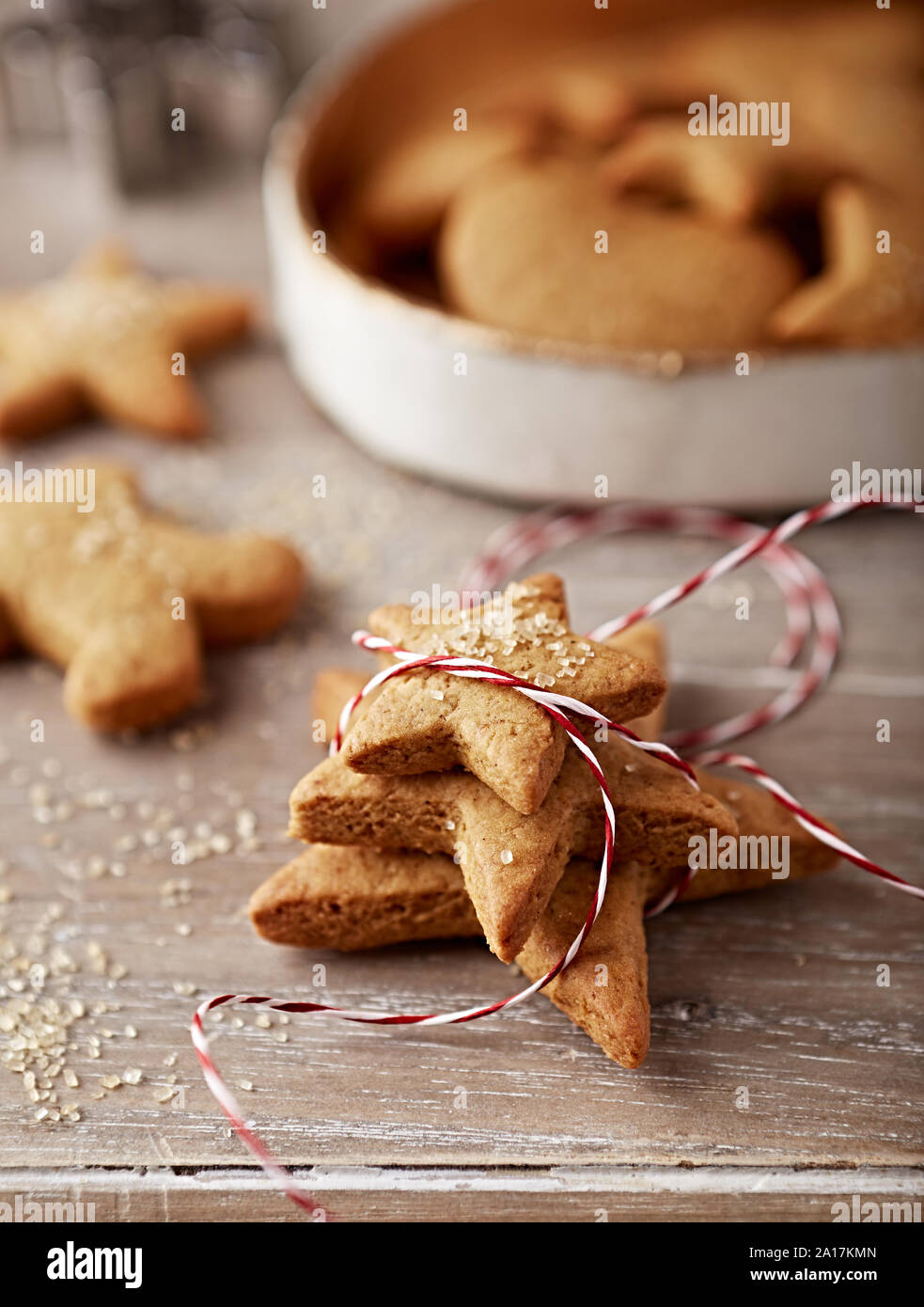 Gingerbread Cookies To Give As A Gift Homemade Christmas Cookies Close Up Stock Photo Alamy