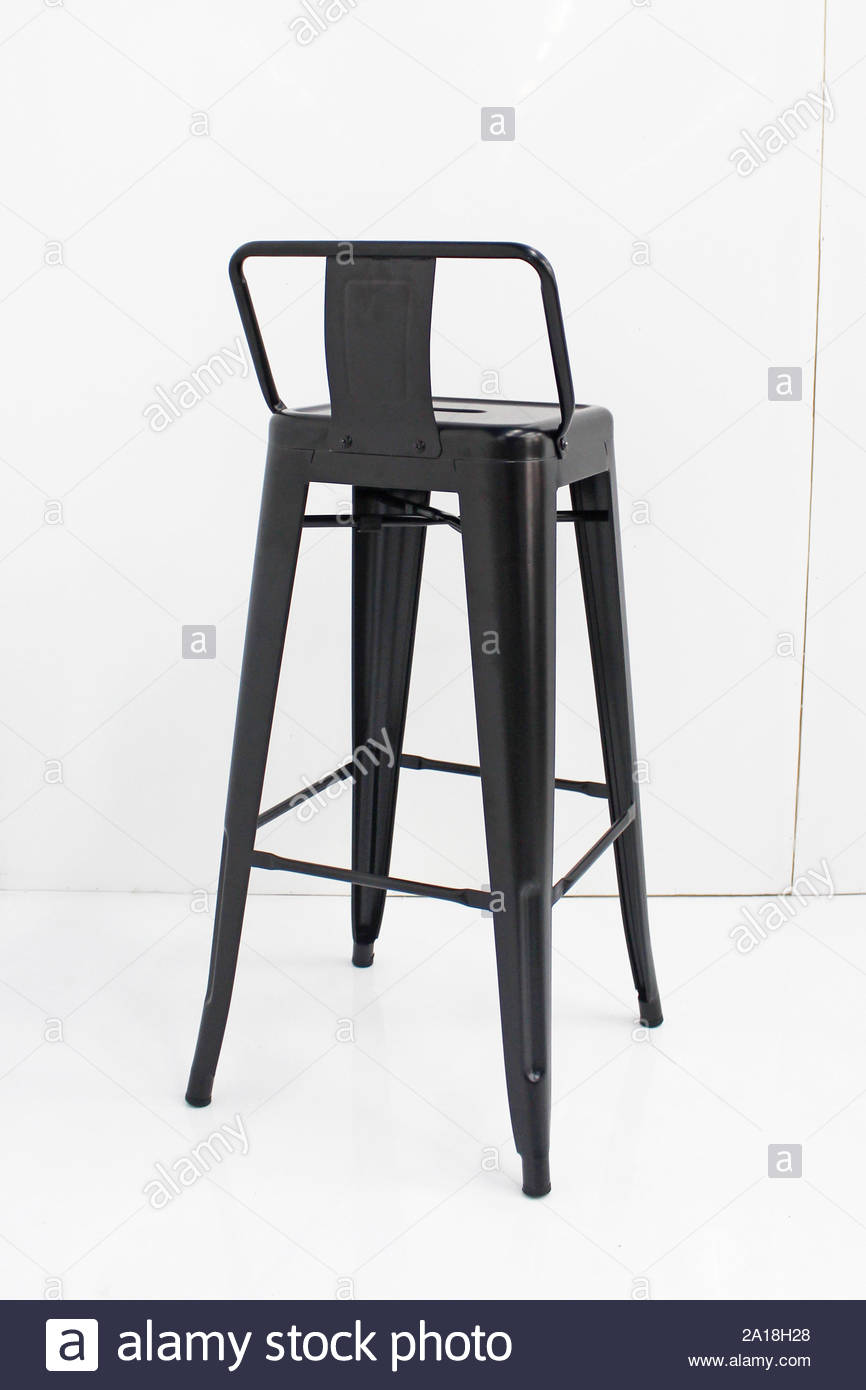 Fantastic Metal Bar Chair Isolated On White Background Strong Tall Machost Co Dining Chair Design Ideas Machostcouk