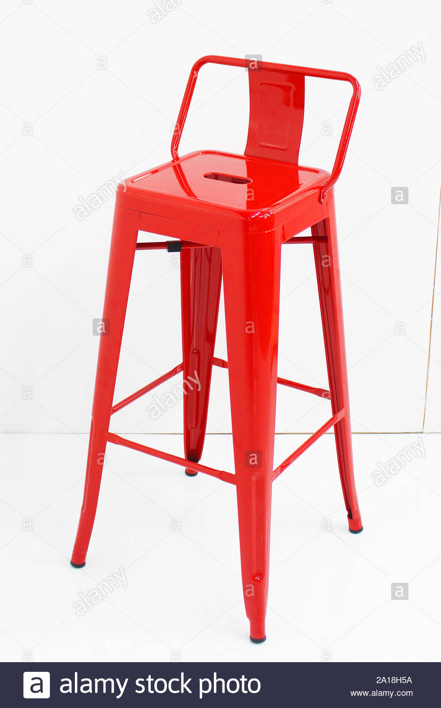 Terrific Metal Bar Chair Isolated On White Background Strong Tall Machost Co Dining Chair Design Ideas Machostcouk