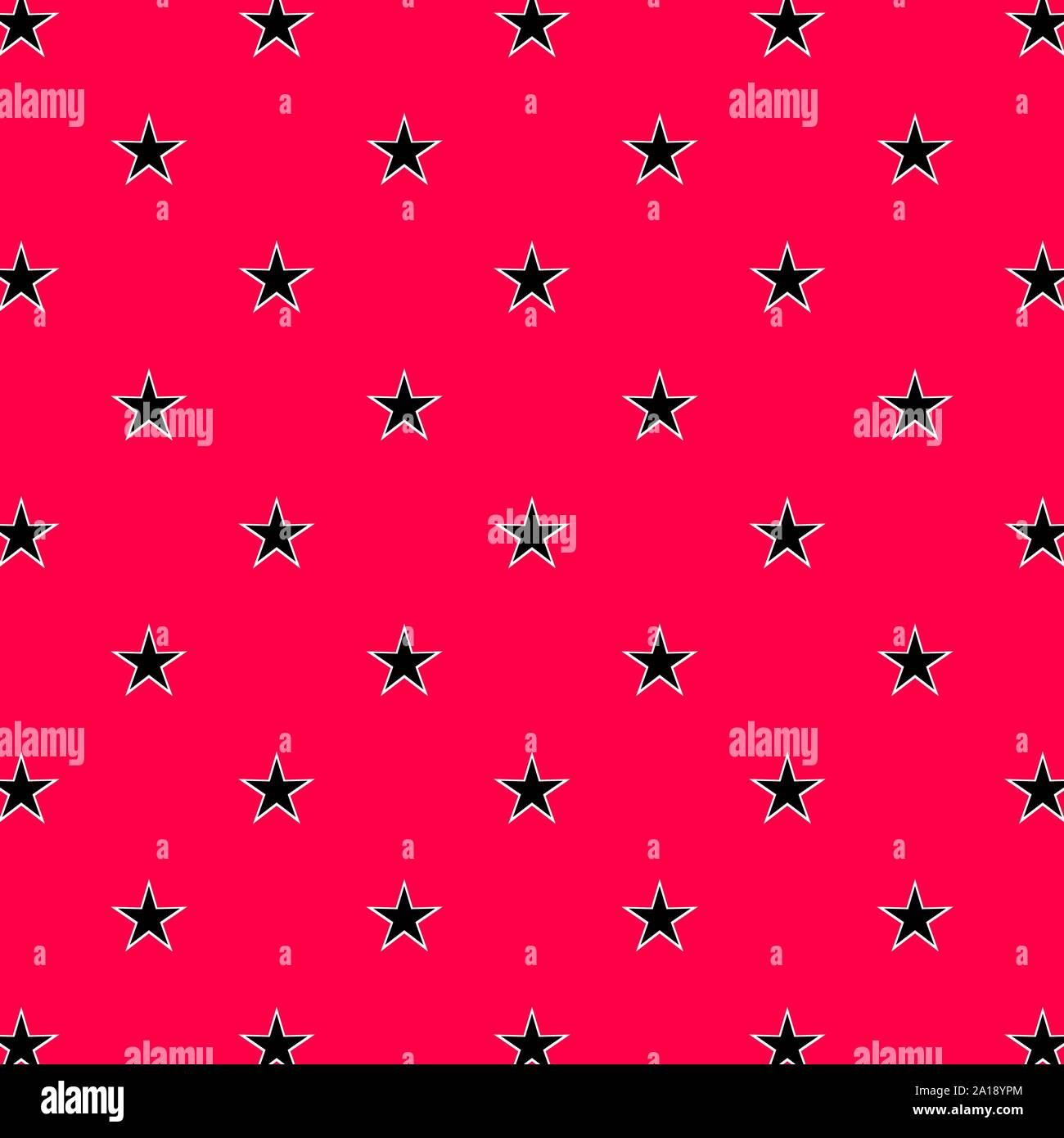 Abstract Seamless Star Pattern Wallpaper With Black And Pink
