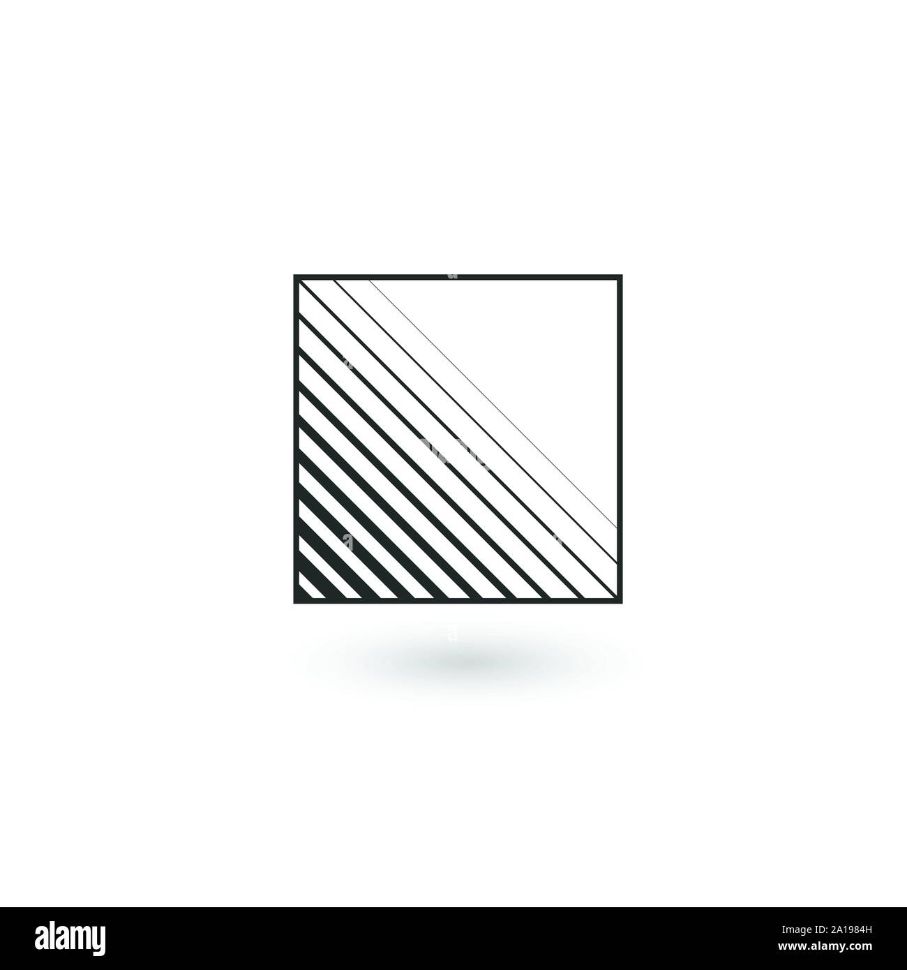 Design square Geometric identity Logo Design Template with lines inside. Business Linear logo. Stock Vector illustration isolated Stock Vector