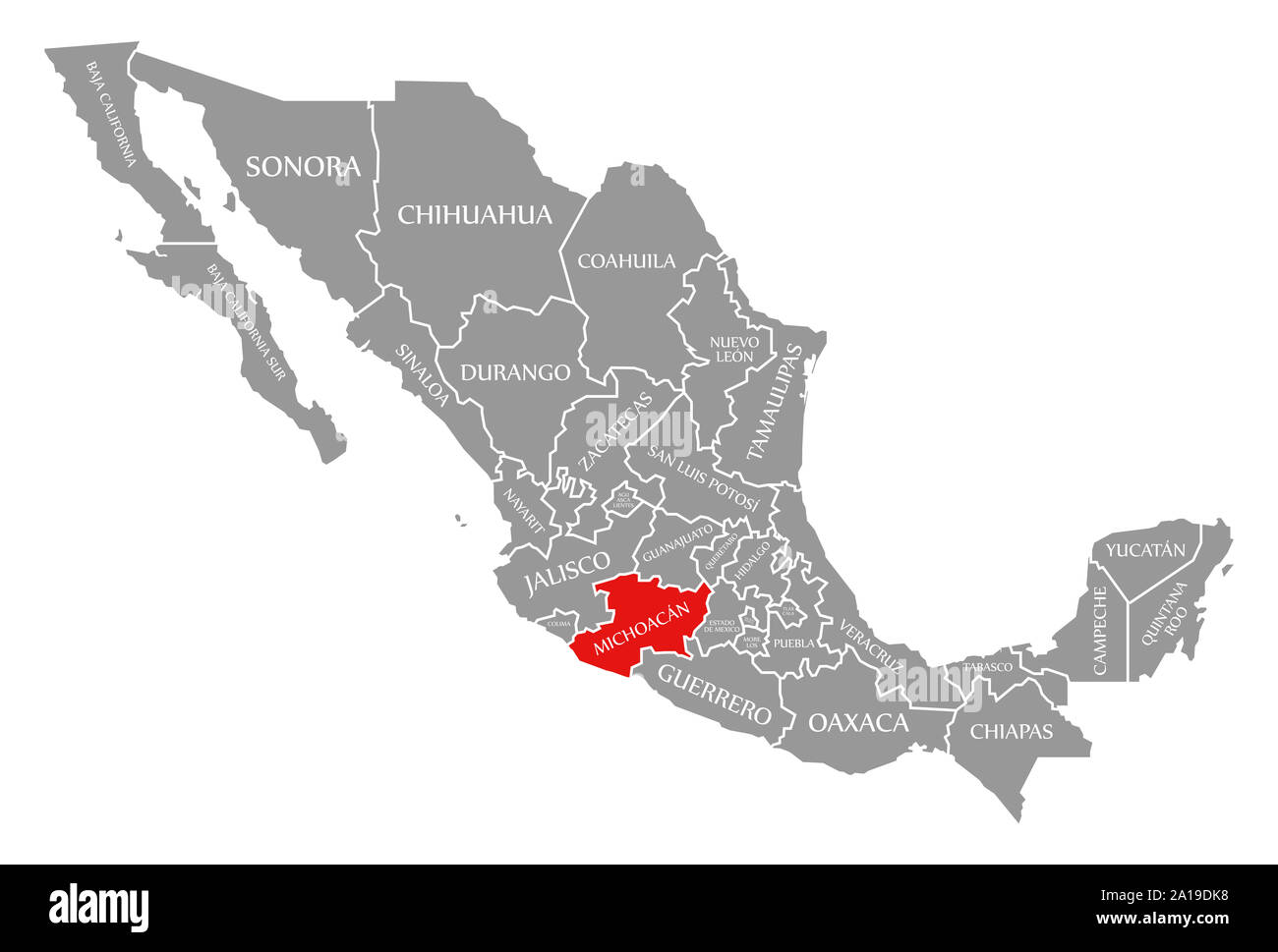 Michoacan Mexico Cut Out Stock Images & Pictures - Alamy