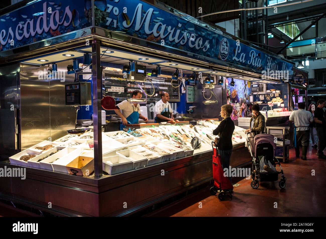 La Latina market, Mercado de la Cebada, Madrid Madrid, Spain Stock Photo