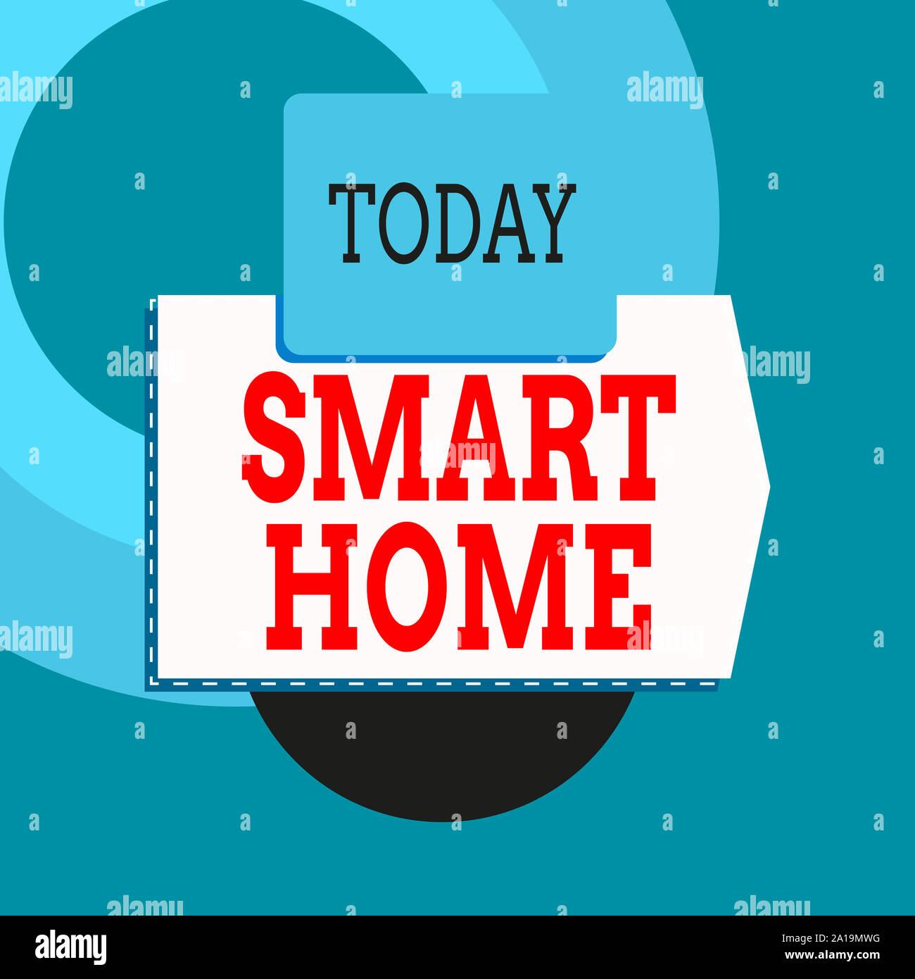 Text Sign Showing Smart Home Business Photo Text Automation System Control Lighting Climate Entertainment Systems Blank Banner Rectangle Square Above Stock Photo Alamy