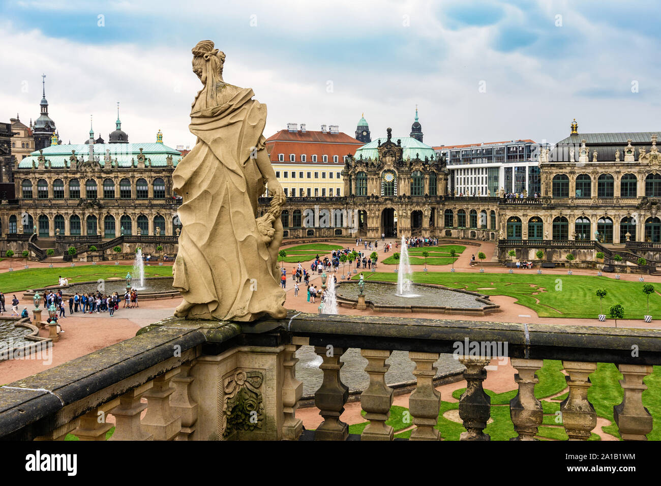 Dresden Germany May 21 2018 Tourist Crowd At Zwinger Dresden The Dresden Zwinger Is A Historic Palace And Tourist Attraction In Dresden Stock Photo Alamy