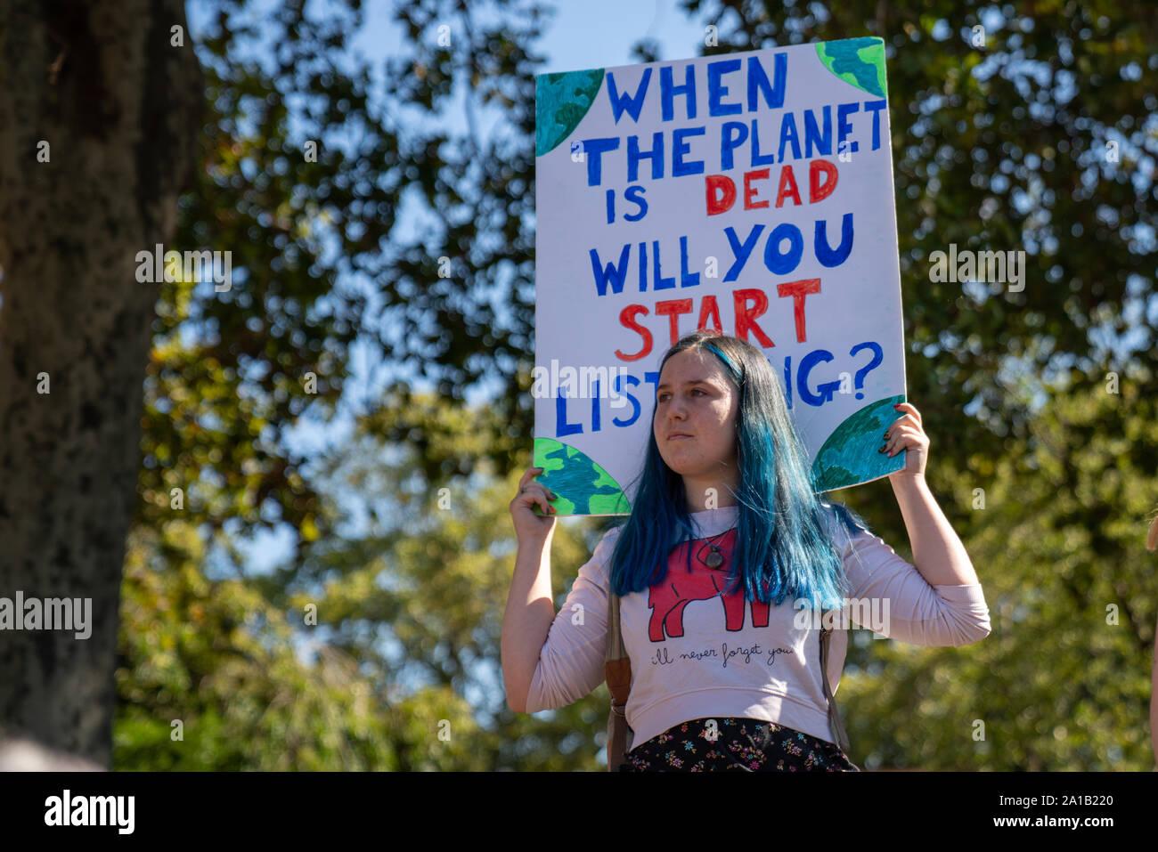 Global Climate Strike London Stock Photo