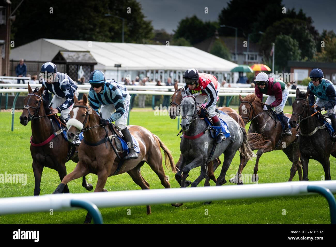 Warwick Racecourse, warwick UK Stock Photo