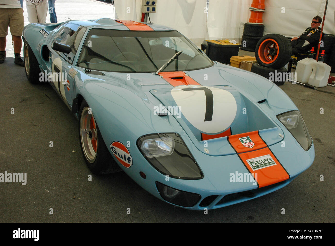 Ford GT 40 Wyer Stock Photo