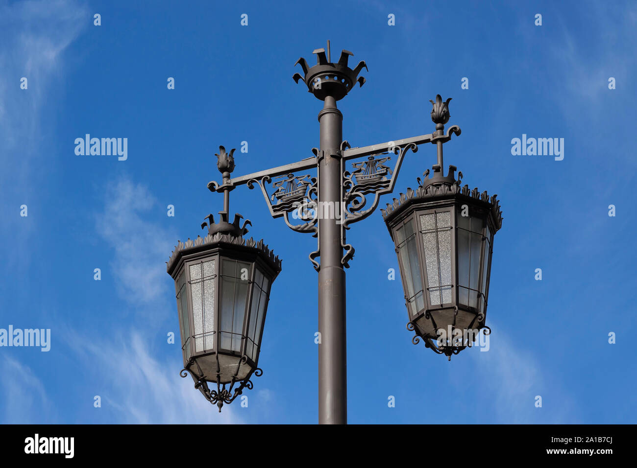 Old street lamp in Lisbon, Portugal Stock Photo