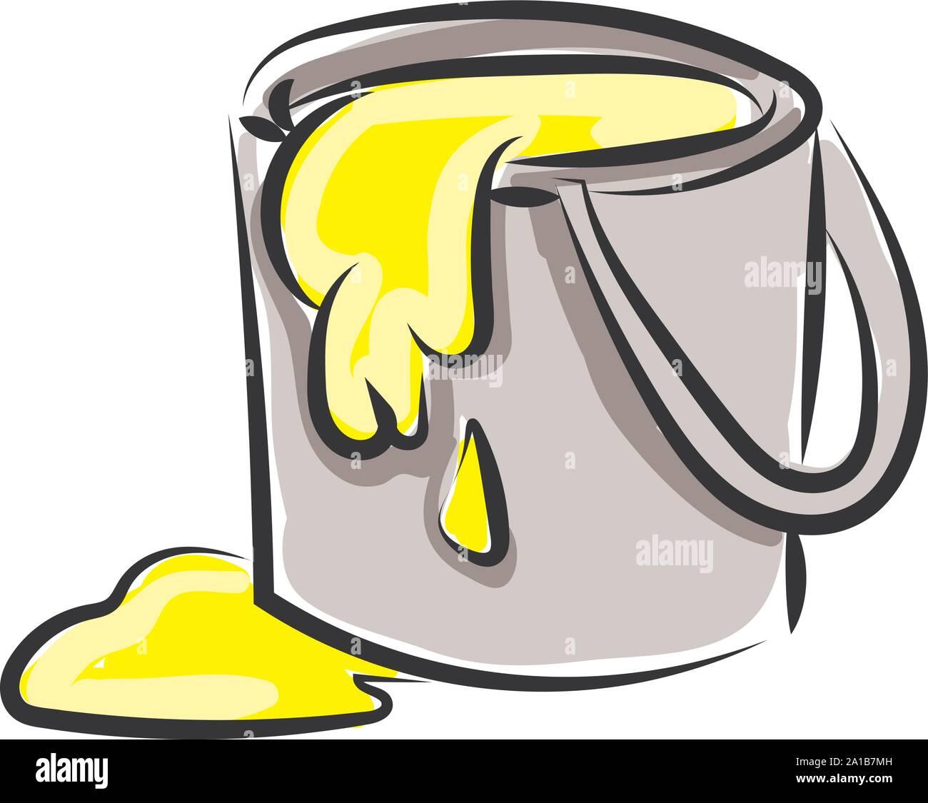 Paint Bucket Illustration Vector On White Background Stock Vector Image Art Alamy