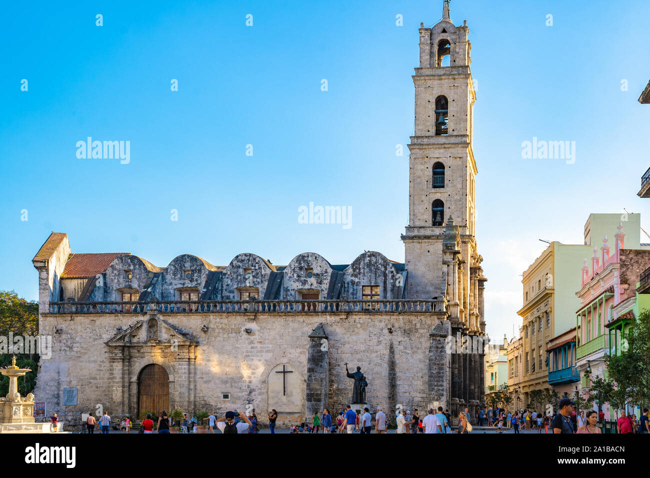 Church and Convent of St. Francis of Assisi in Old Havana, Cuba. Stock Photo