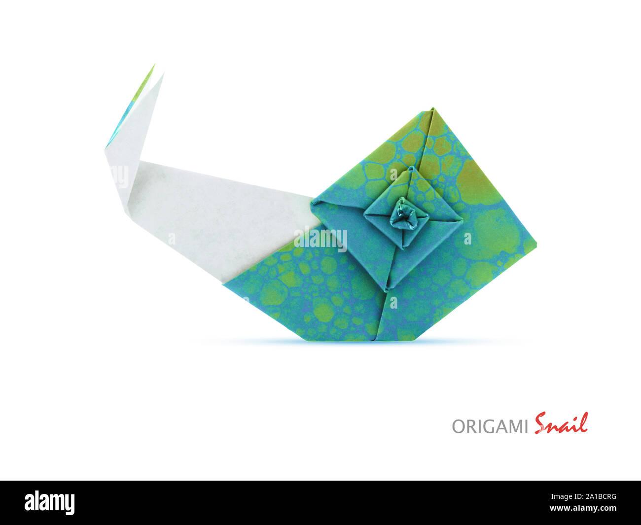 Origami Snail Tutorial - Designed by Eric Gjerde - Paper Kawaii ... | 1065x1300