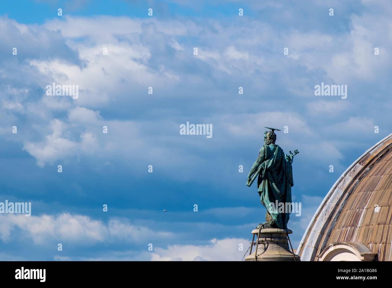 Trajan's Column, Roman Forums, Rome Italy Stock Photo
