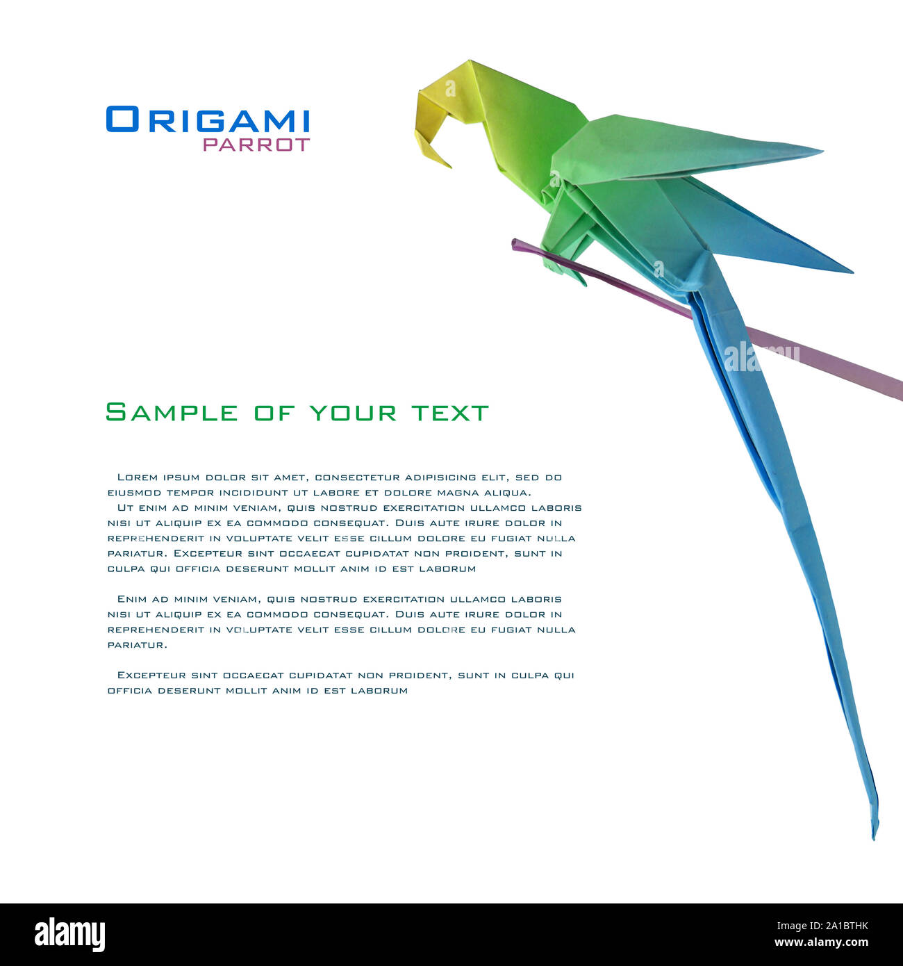 How to Make an Easy Origami Parrot | 1390x1300