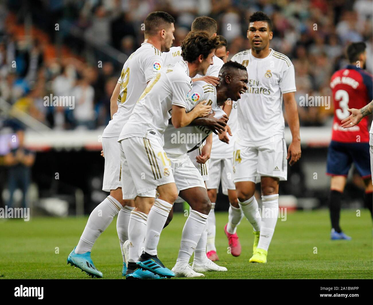 Madrid Spain 25th Sep 2019 Soccer Match Between Real Madrid Vs