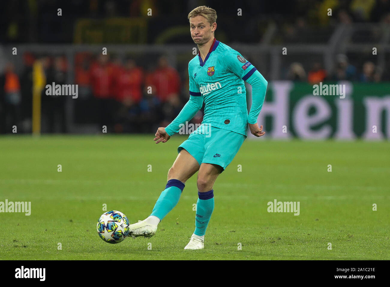 Frenkie De Jong  in FC Barcelone during the UEFA Champions League, Group F football match between Borussia Dortmund and FC Barcelona on September 17, 2019 at BVB Stadion in Dortmund, Germany - Photo Laurent Lairys / MAXPPP Stock Photo