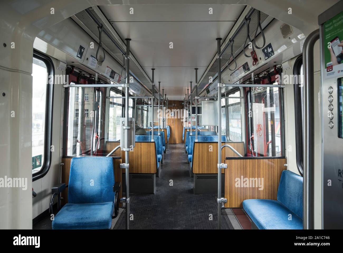 Düsseldorf, Stadtbahn Stock Photo