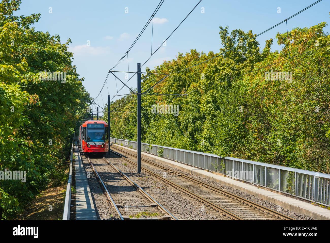 Köln, Stadtbahn Stock Photo