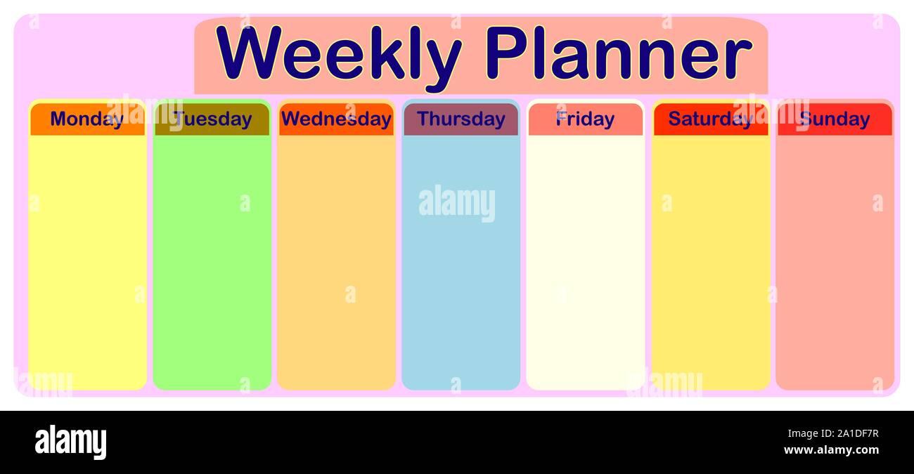 Monday To Sunday Calendar Template from c8.alamy.com