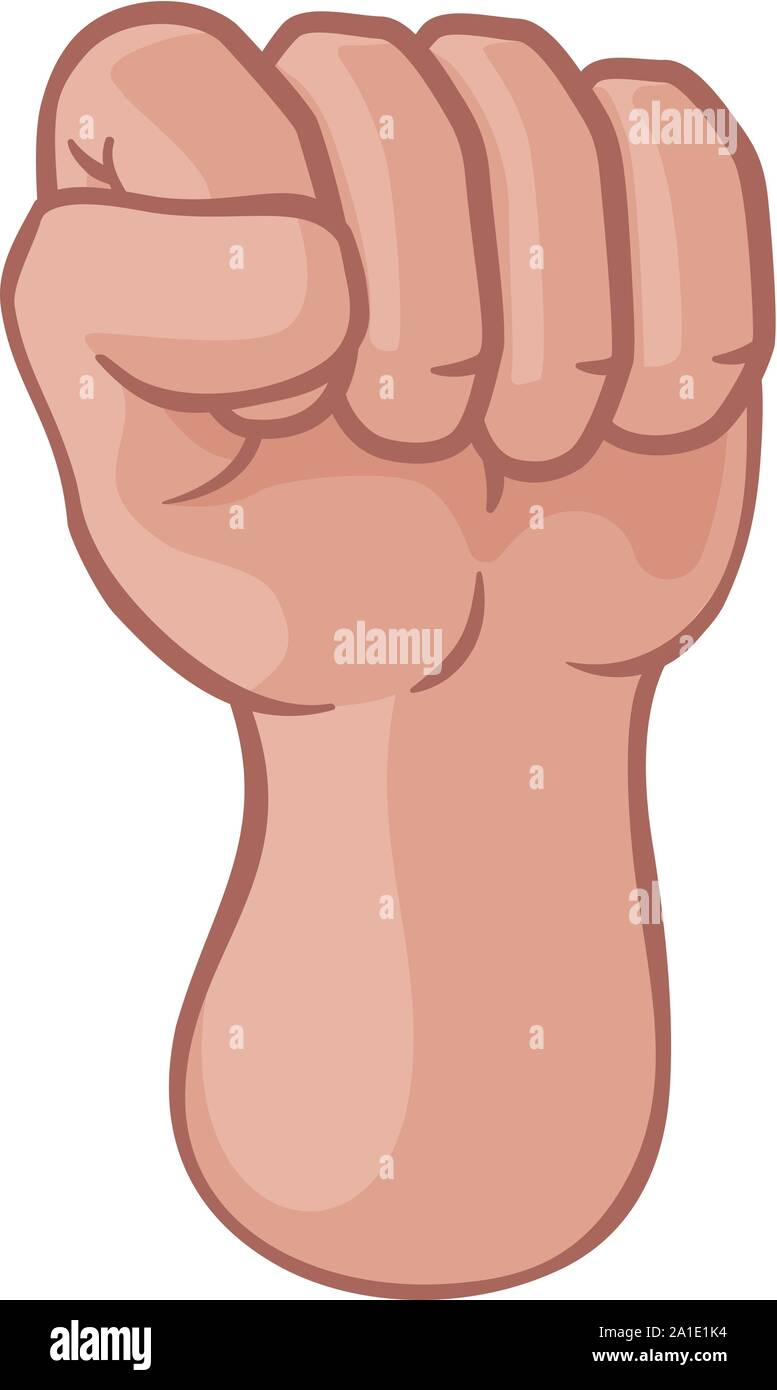 Fist Up Hand Punch Cartoon Icon Stock Vector