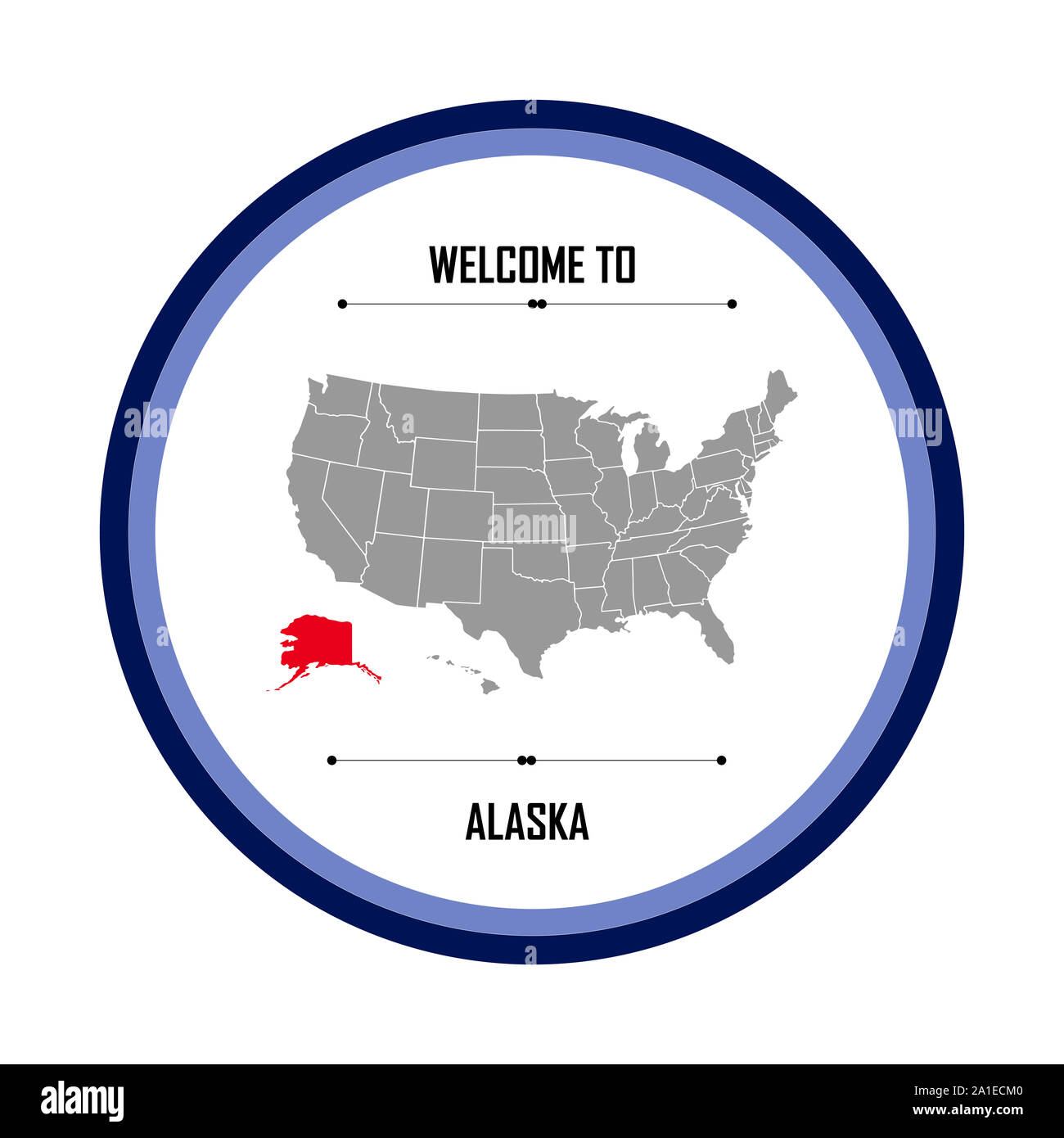 United States Map Alaska And Hawaii Stock Photos & United ...