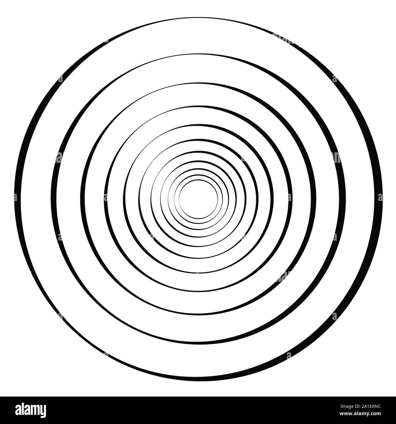 Shape with rotation, tiwrl effect Geometric abstract spiralling design element Stock Vector