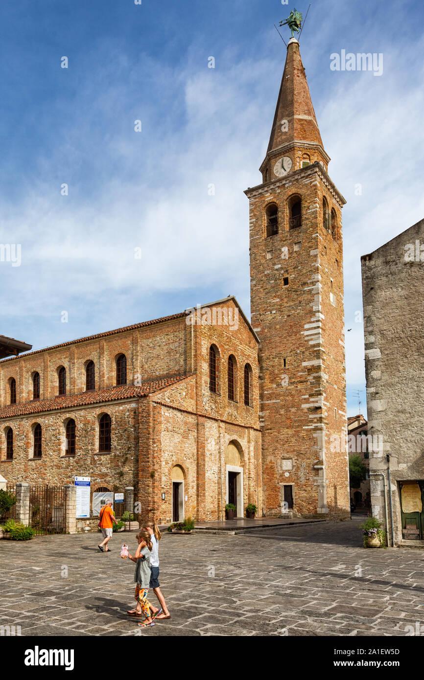 JULY 22, 2019 - GRADO, ITALY - Sant'Eufemia Basilica in Grado, Northeastern Italy Stock Photo