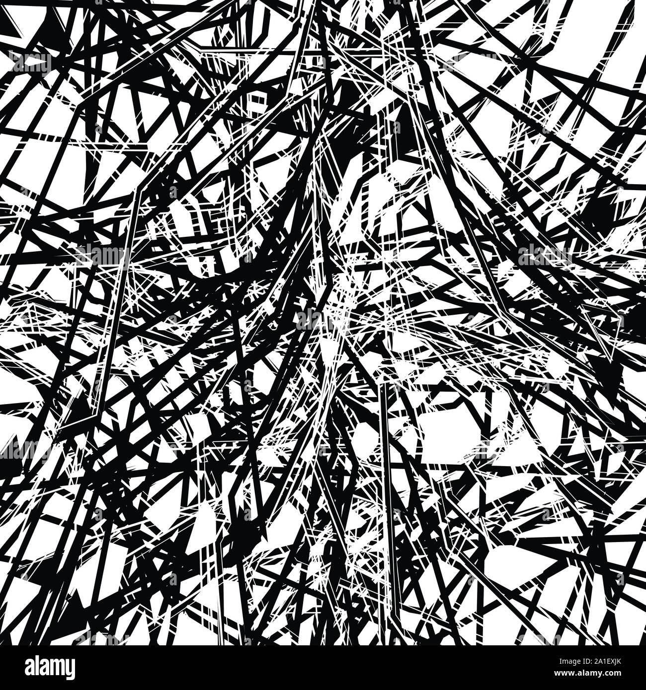 Abstract Art With Deformation Distortion Effect On Random