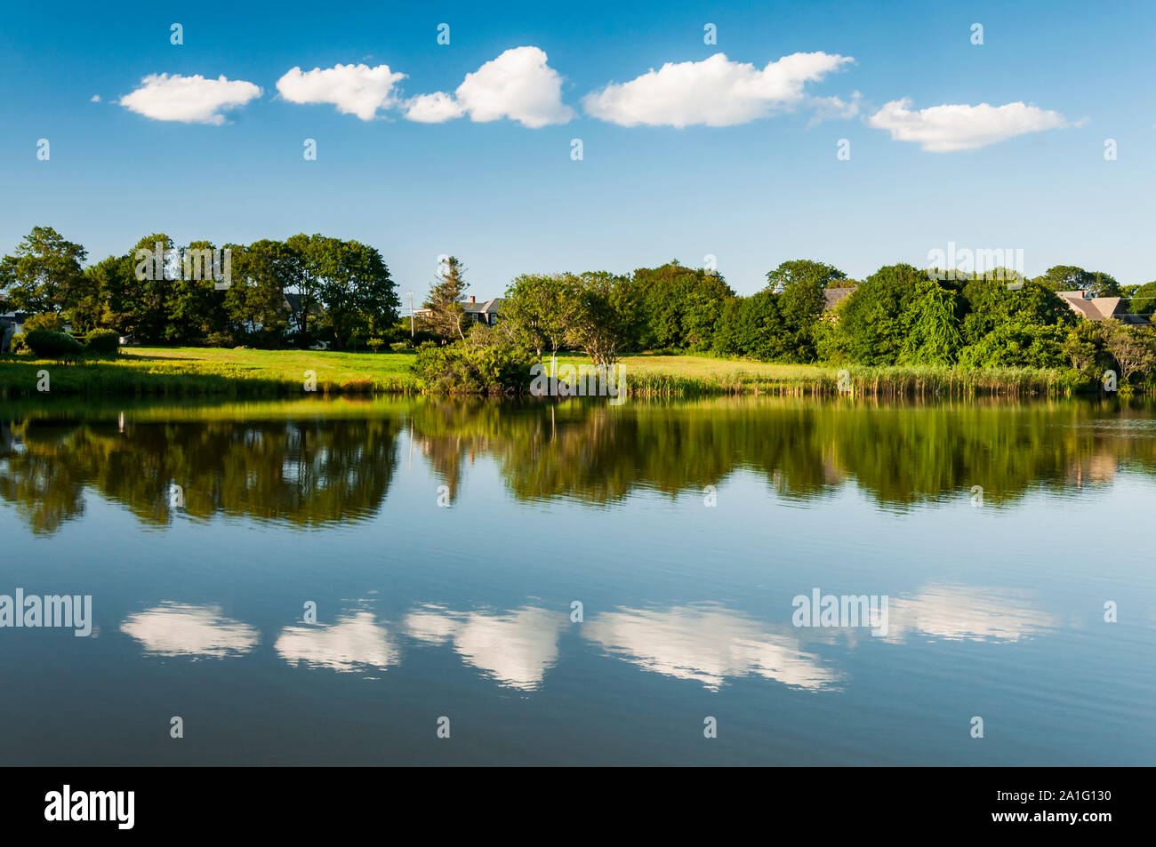 Biddeford Pool Maine Water Scene On The Lake Stock Photo Alamy