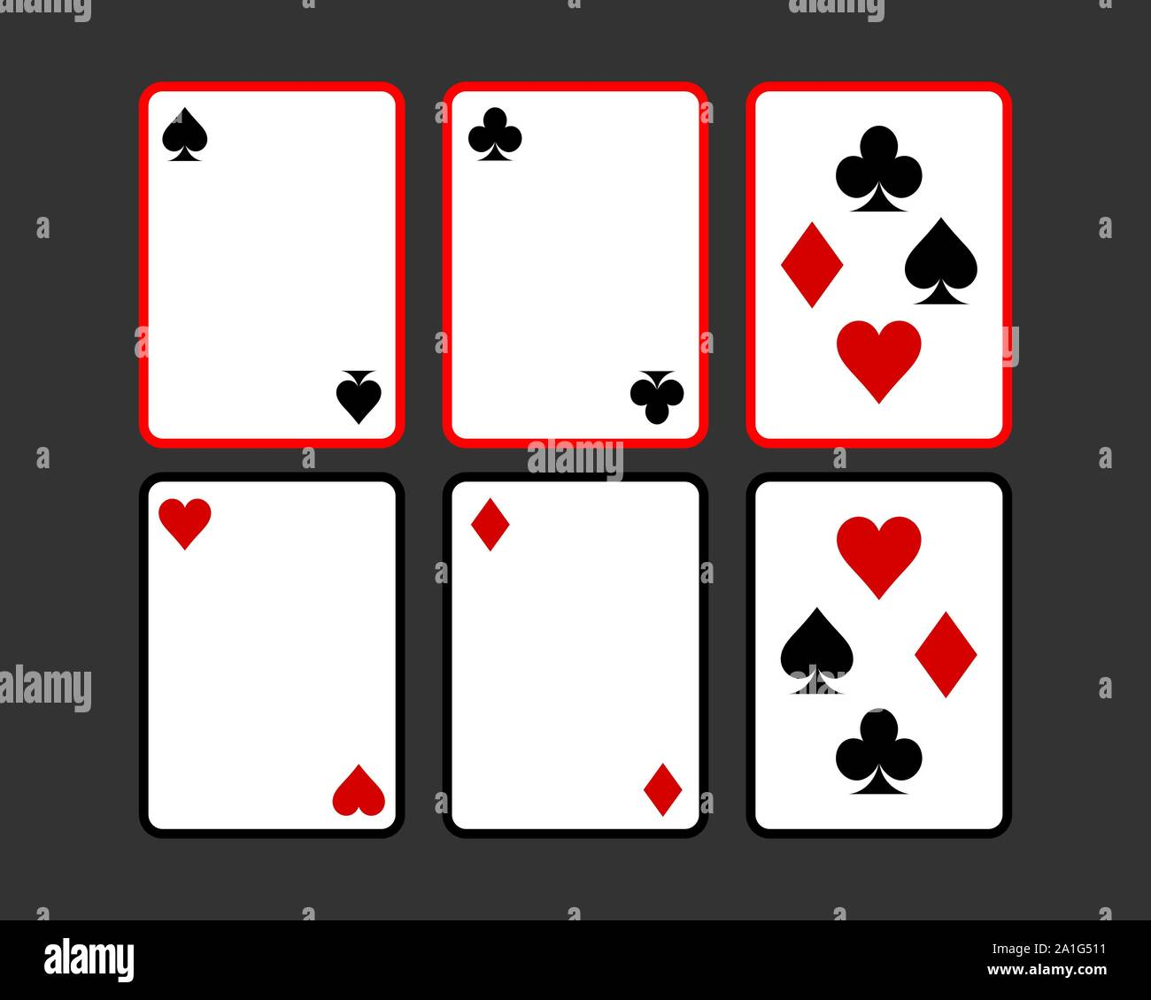 Playing Cards Vector Illustration Poker Playing Cards Template Stock Vector Image Art Alamy
