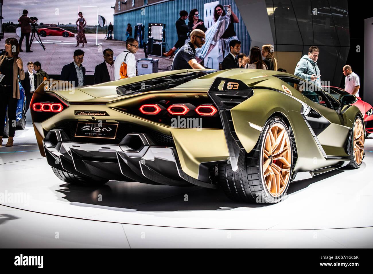 Frankfurt Germany Sep 10 2019 Lamborghini Sian Fkp 37 At