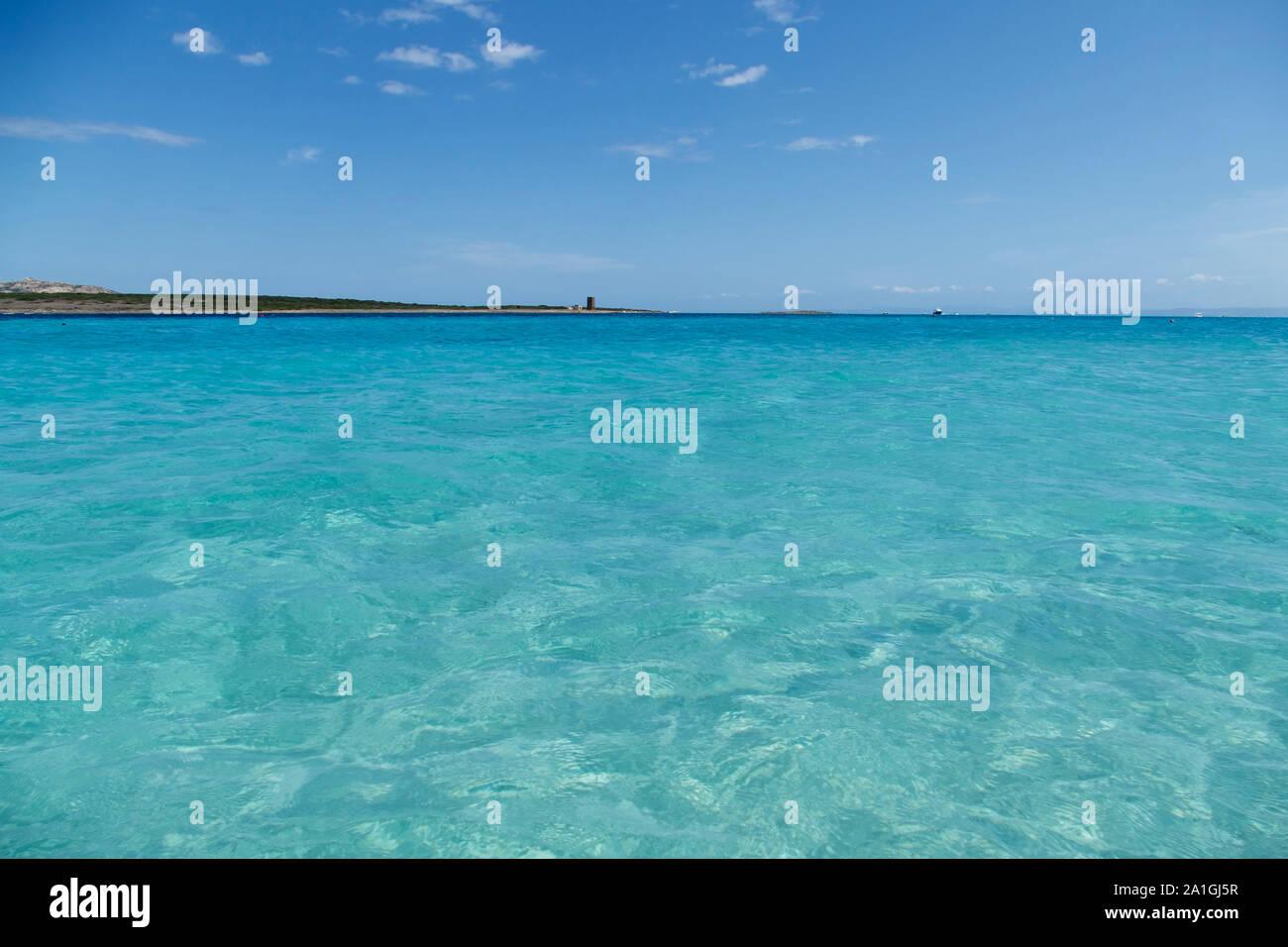 Mediterranean Beach Spiaggia La Pelosa Stintino Sardinia Italy