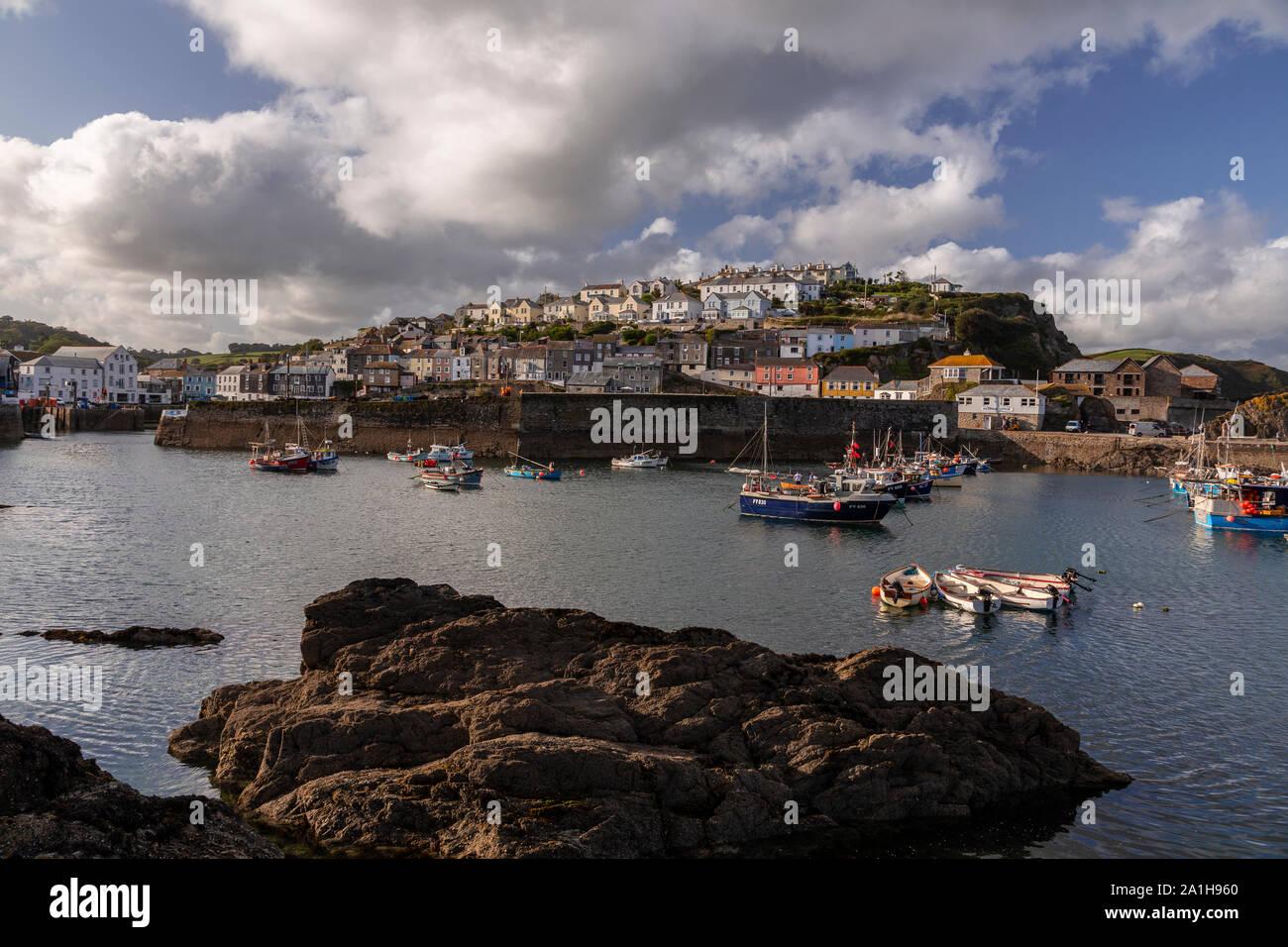 Mevagissey harbour, Cornwall, England Stock Photo