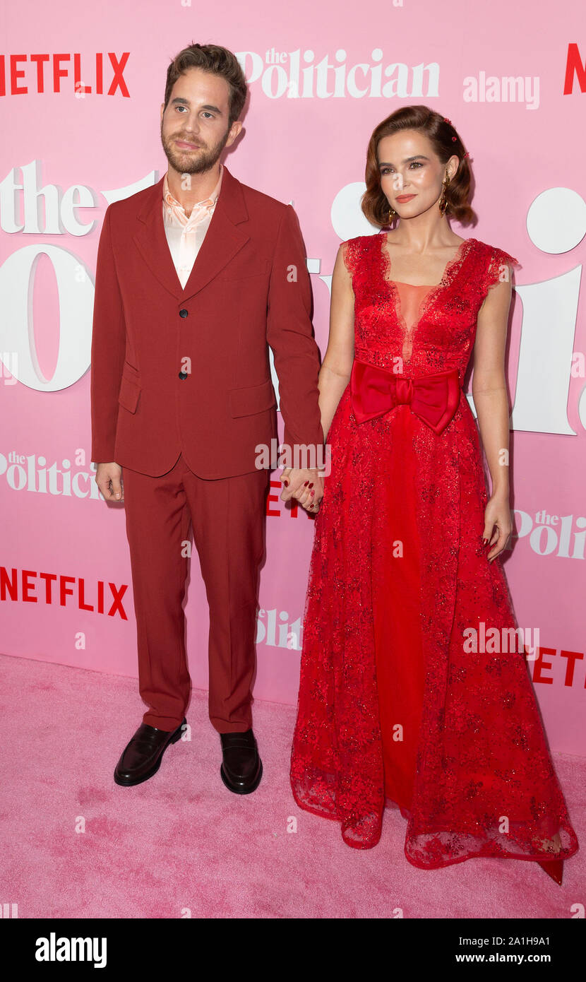Ben Platt Zoey Deutch Attend Netflix The Politician
