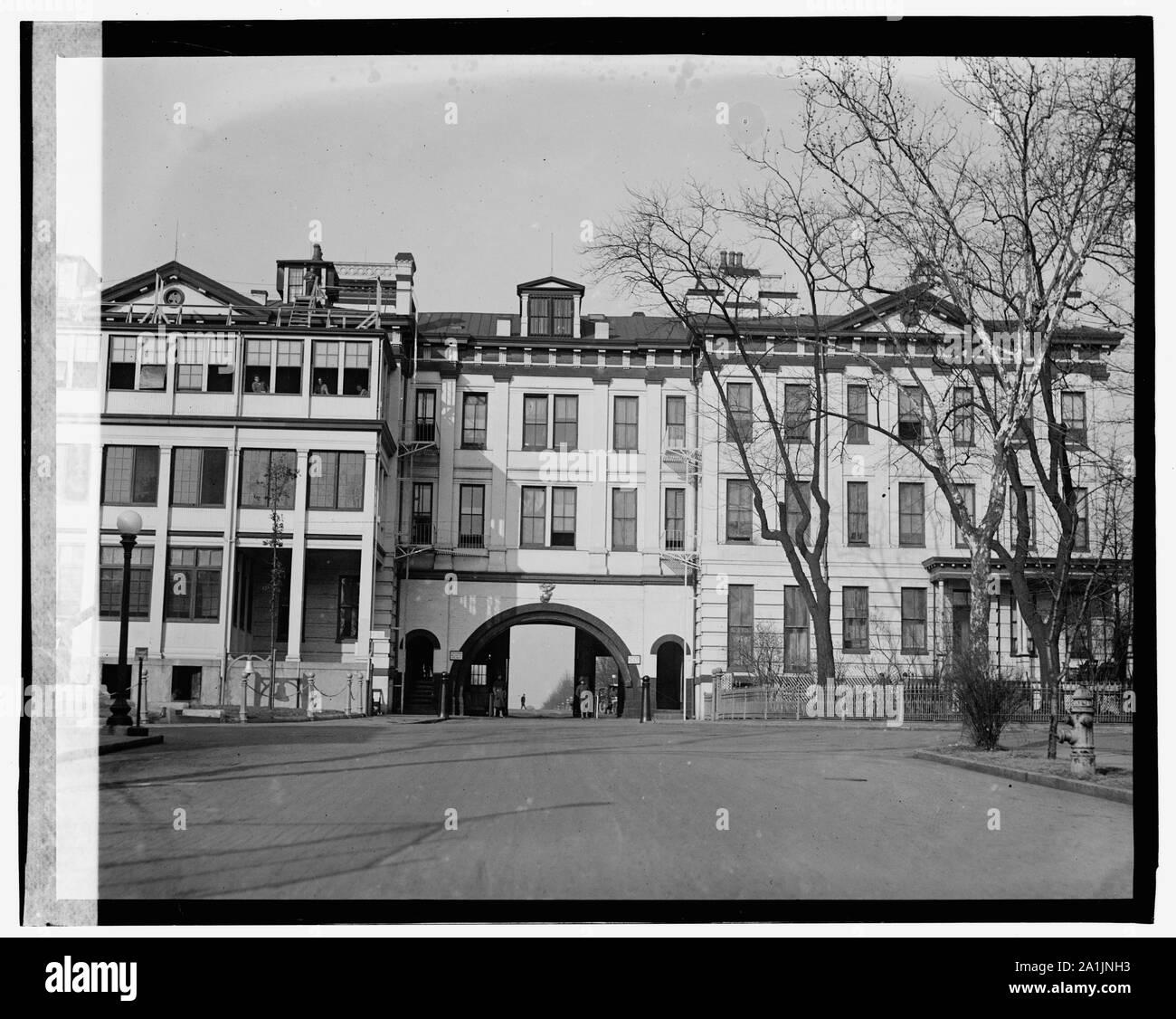 Navy Yard gate Stock Photo
