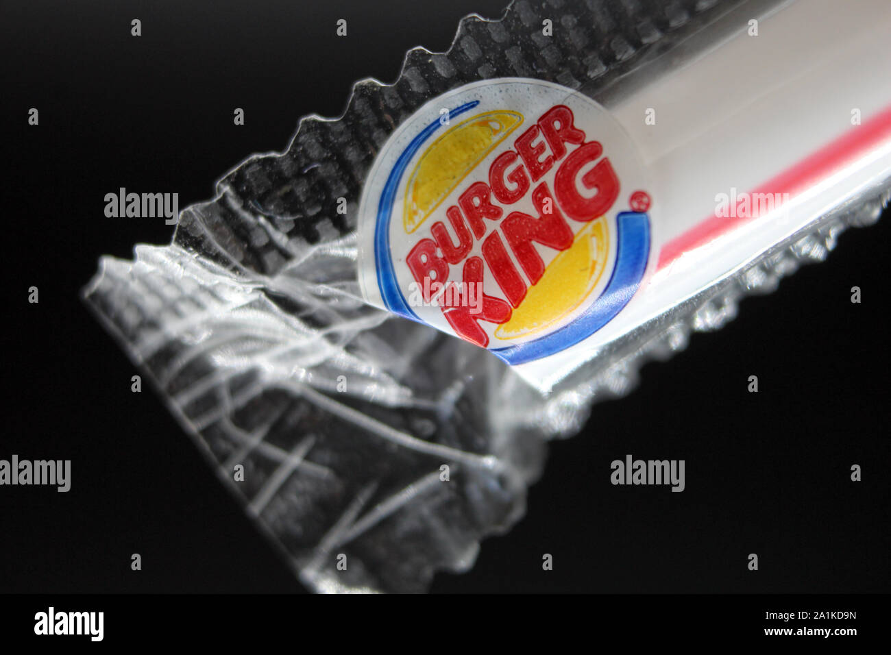 Plastic Straw Plastic Cellophane Wrapper From Burger King
