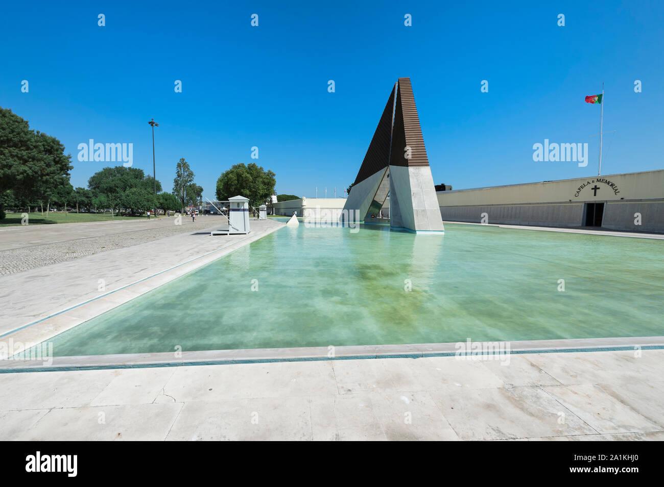 Belem War Memorial, Monumento aos Combatentes da Guerra do Ultramar, Belem, Lisbon, Portugal Stock Photo