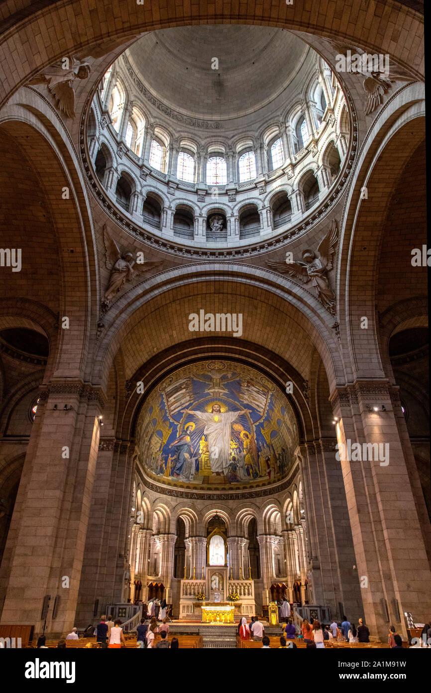 Basilique du Sacre Coeur in Montmartre, Paris, France Stock Photo
